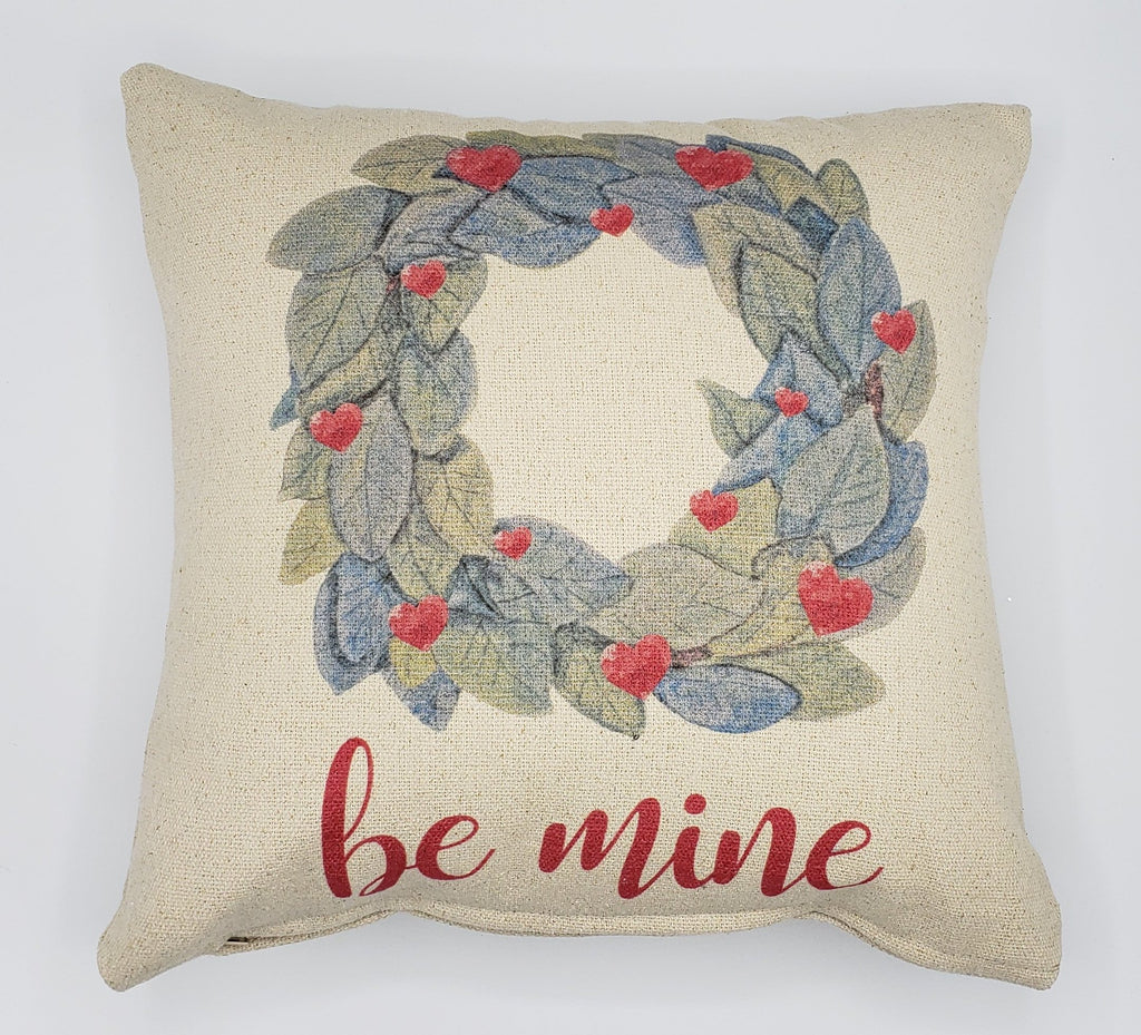 Be Mine Wreath Pillow