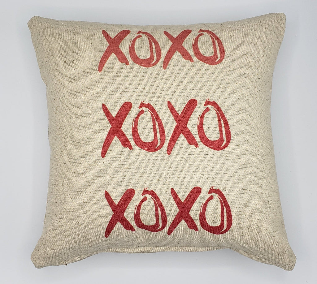 XOXO Red Pillow