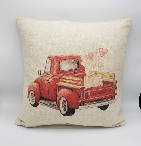 Heart Truck Pillow
