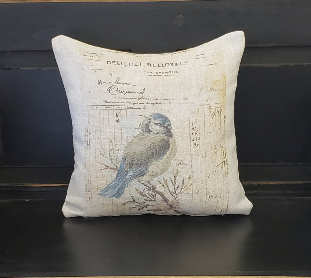 Blue Bird Post Pillow