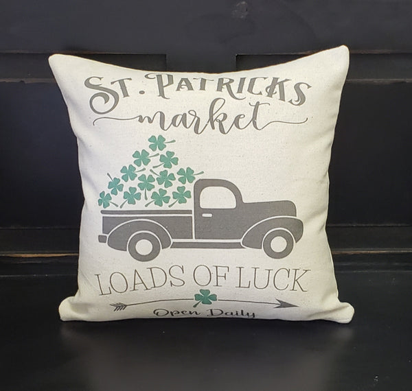 St. Patrick's Day Truck Pillow