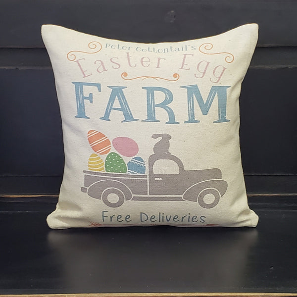 Easter Truck Pillow