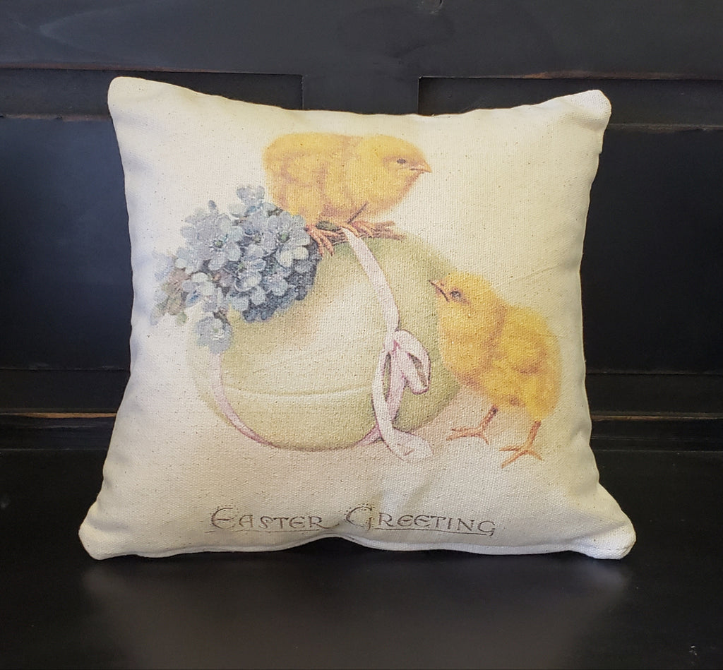 Easter Egg & Chicks Pillow