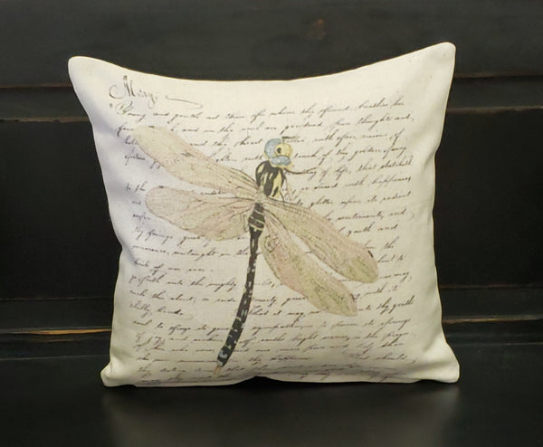 French Dragonfly Pillow