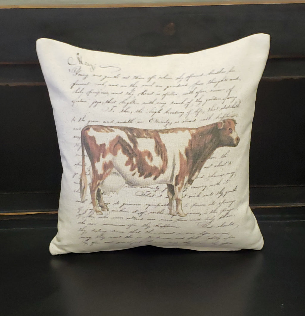 French Cow Pillow