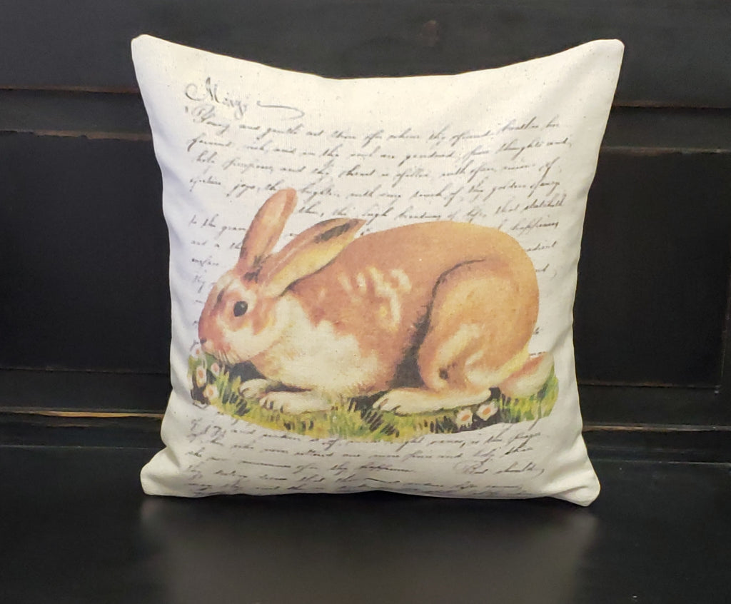 French Rabbit Pillow