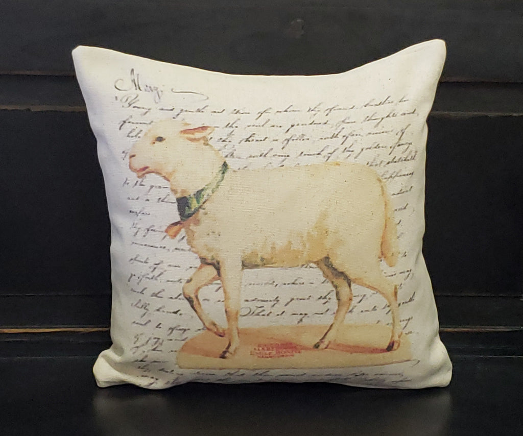 French Lamb Pillow