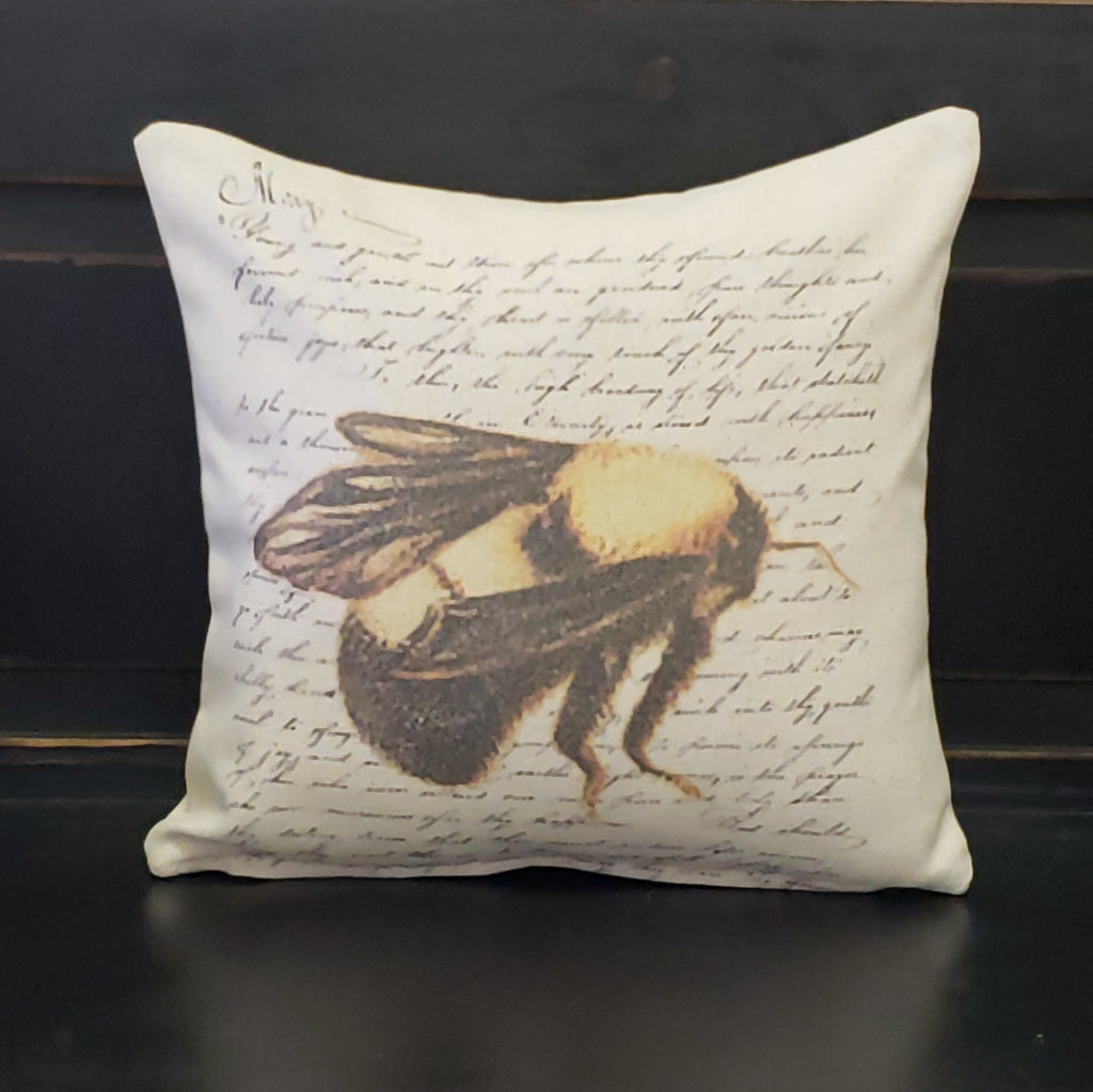 French Colored Bee Pillow