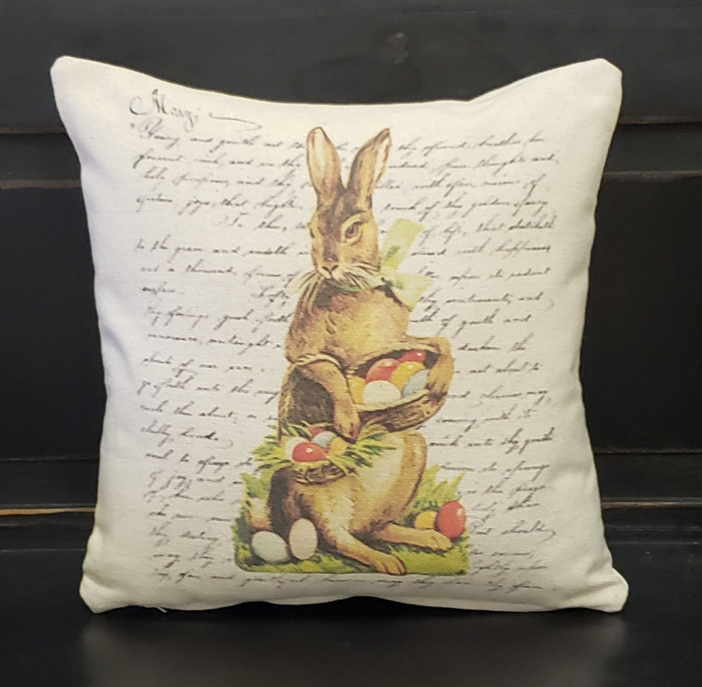 French Easter Bunny Pillow