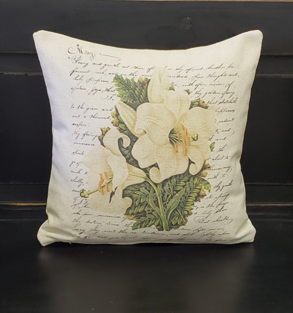 French White Lilies Pillow