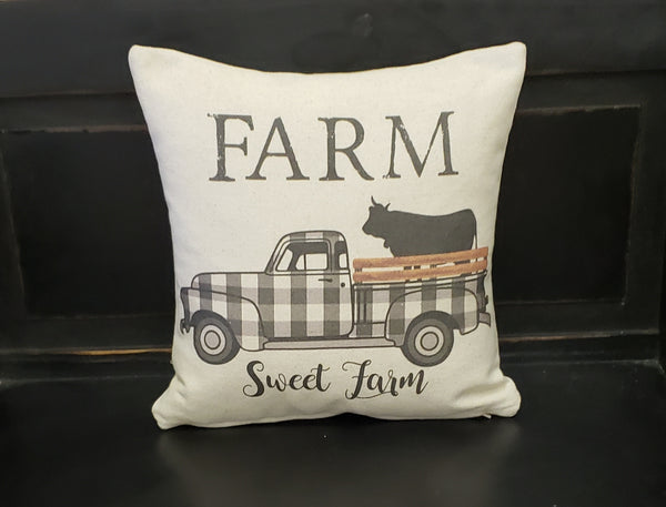 Black Buffalo Truck Pillow