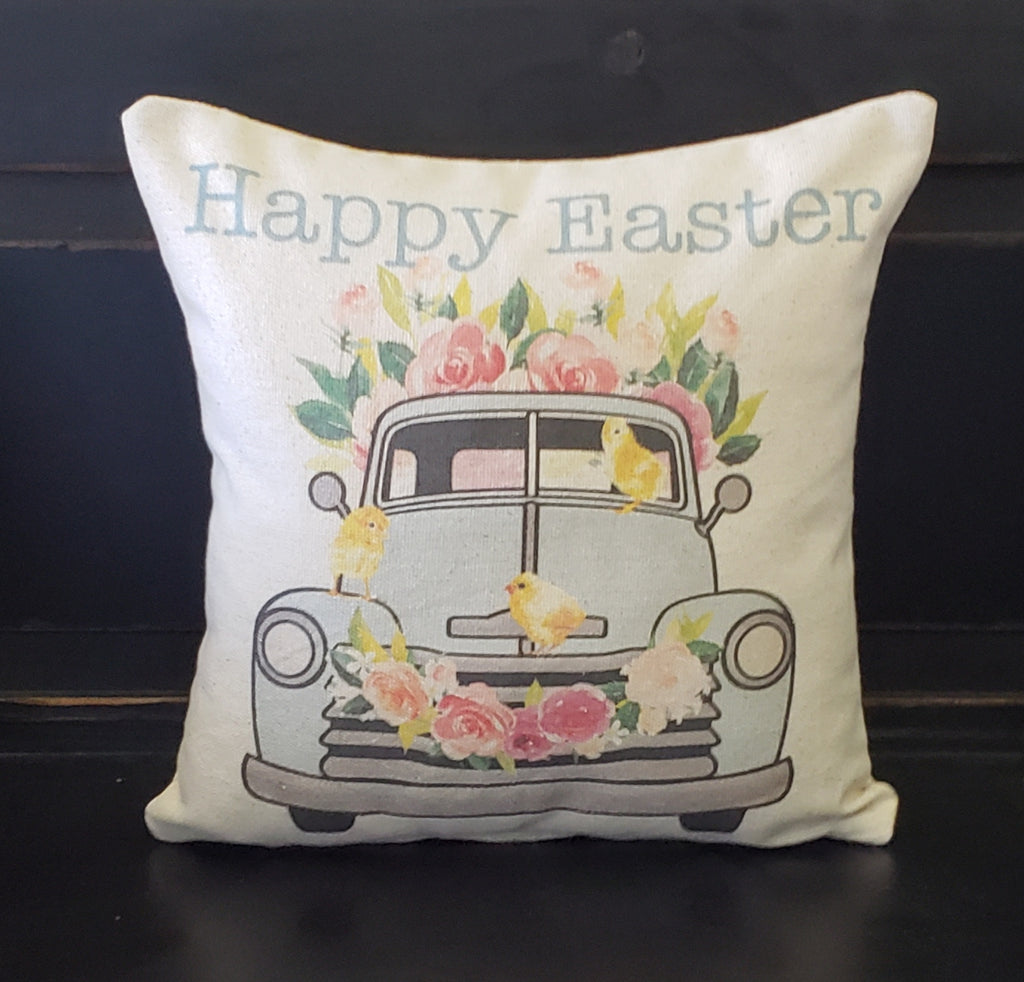 Foral Easter Truck Pillow