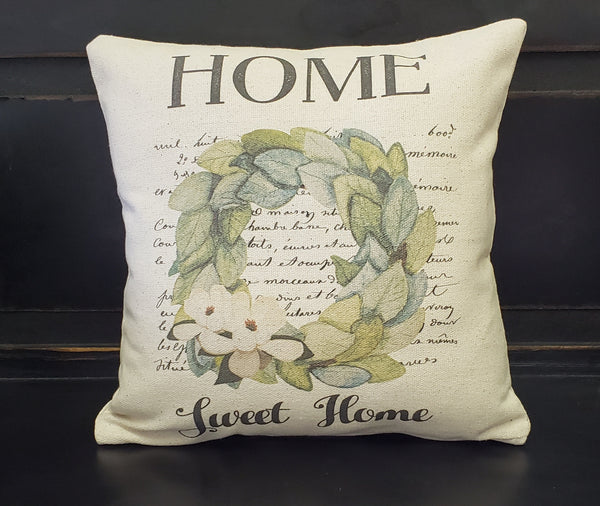 Home Sweet Home Wreath Pillow