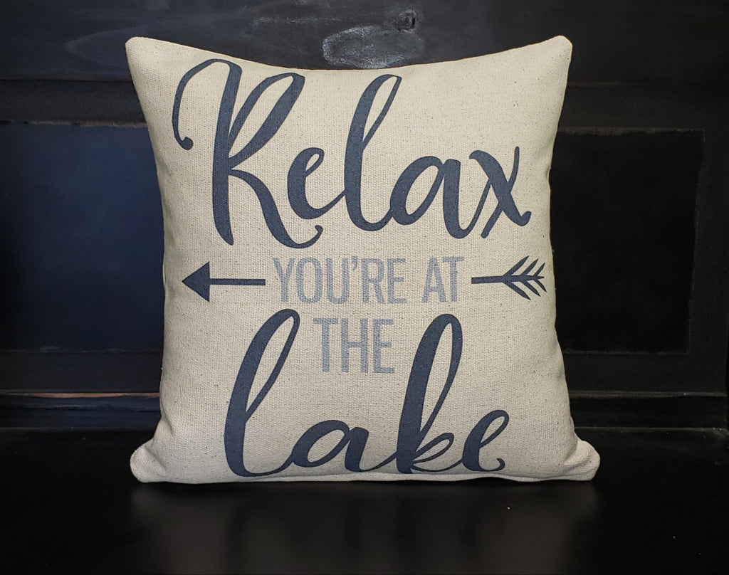 Relax Your At The Lake Pillow
