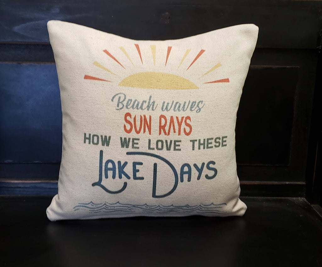 Beach Waves Lake Days Pillow