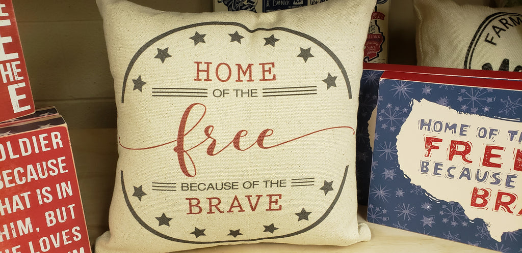 Home of The Free Pillow