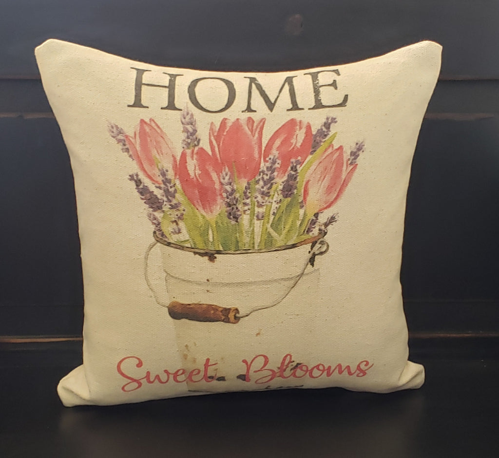 Home Sweet Blooms Pillow