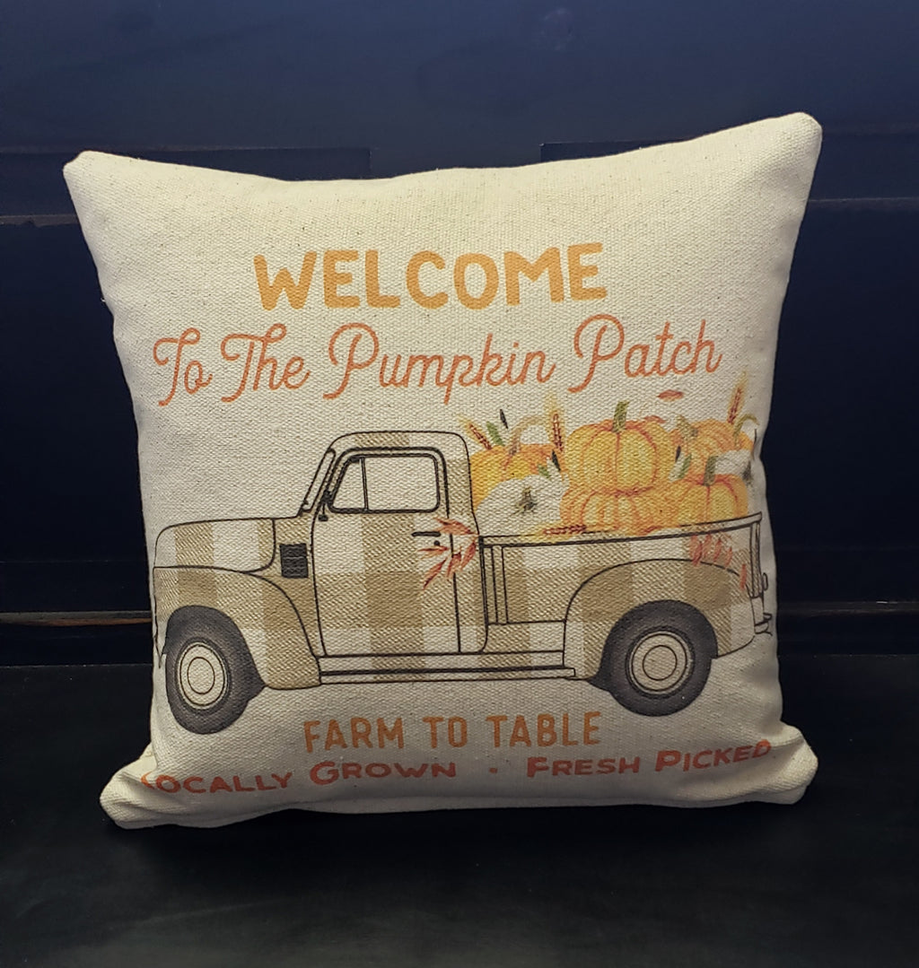 Welcome To The Pumpkin Patch Truck Pillow