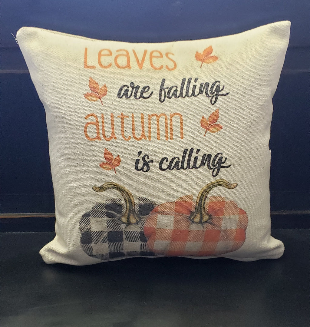 Autumn Leaves Are Falling Pillow