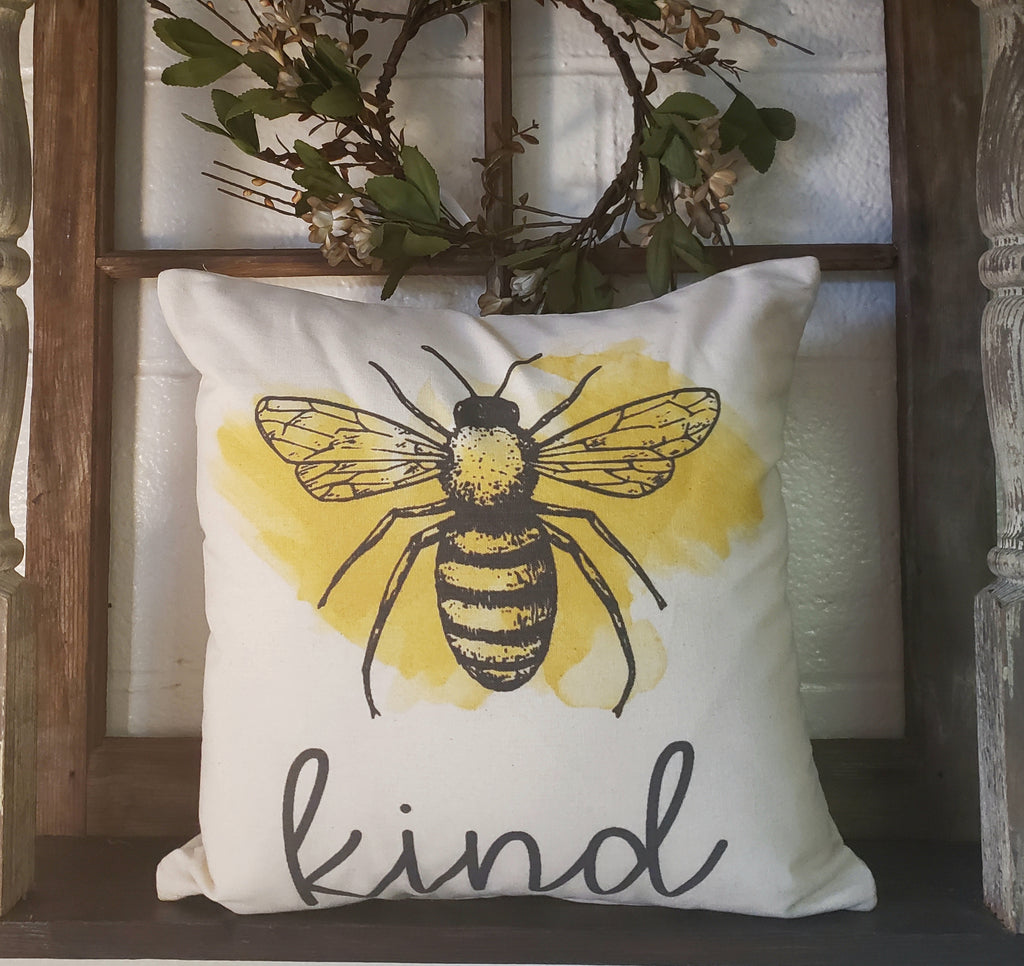 Bee Kind 16x16 Cover