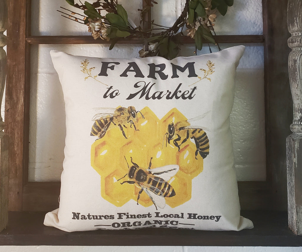 Farm To Market Bee 16x16 Cover