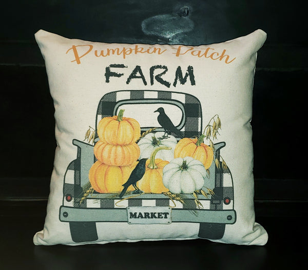 Pumpkin Patch Crow Truck 16x16 Cover