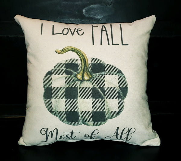 I Love Fall Most Of All 16x16 Cover