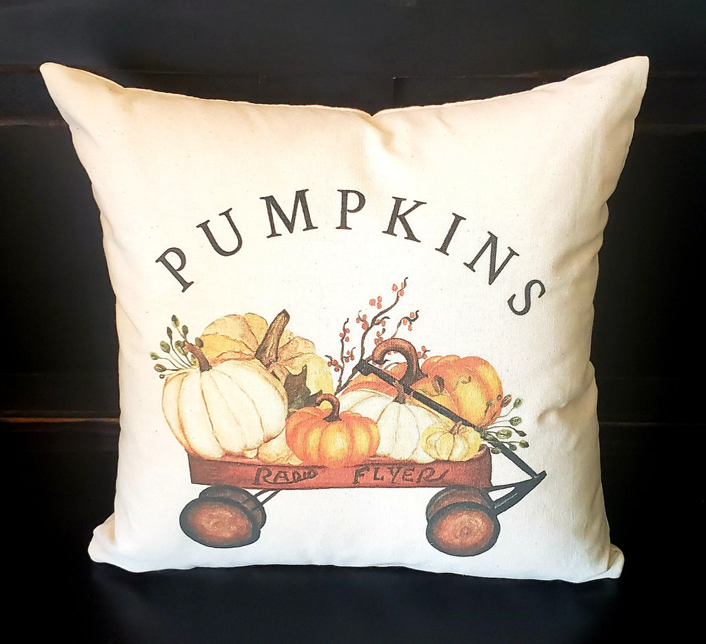Pumpkin Wagon 16x16 Cover