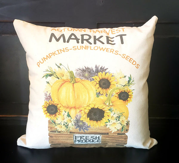 Autumn Market Basket 16x16 Cover