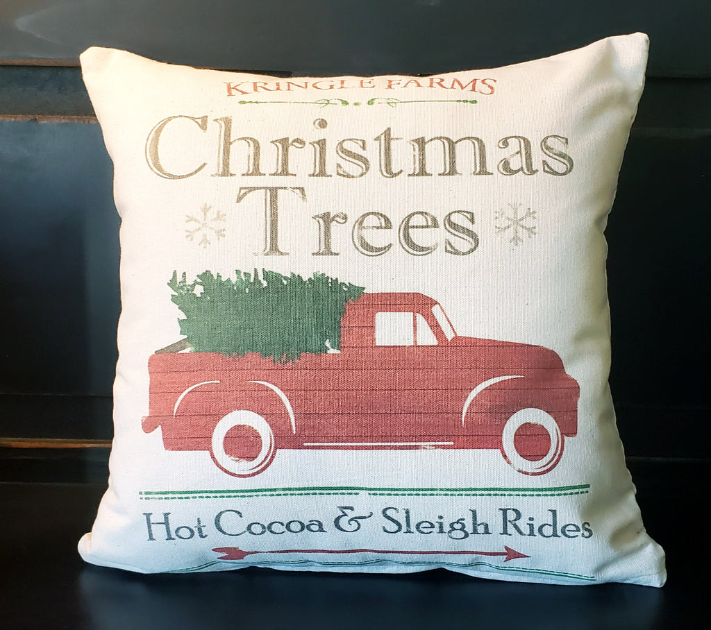 Christmas Trees Farms Truck 16x16 Cover