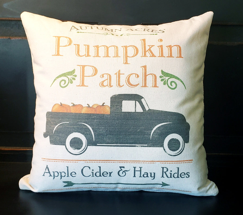 Pumpkin Patch Truck 16x16 Cover