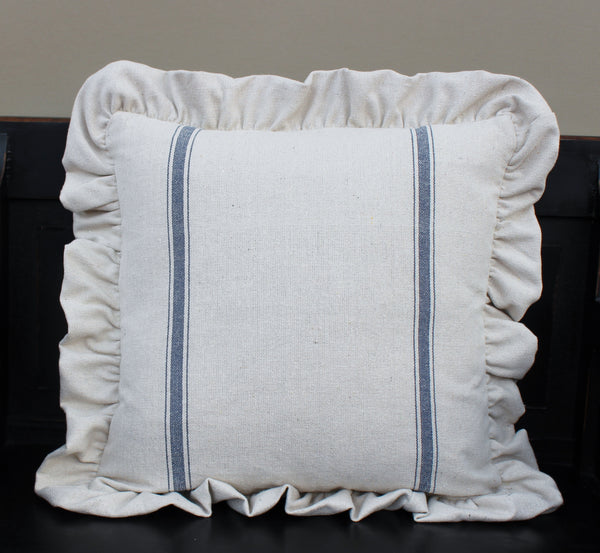 Grainsack Ruffled Pillow