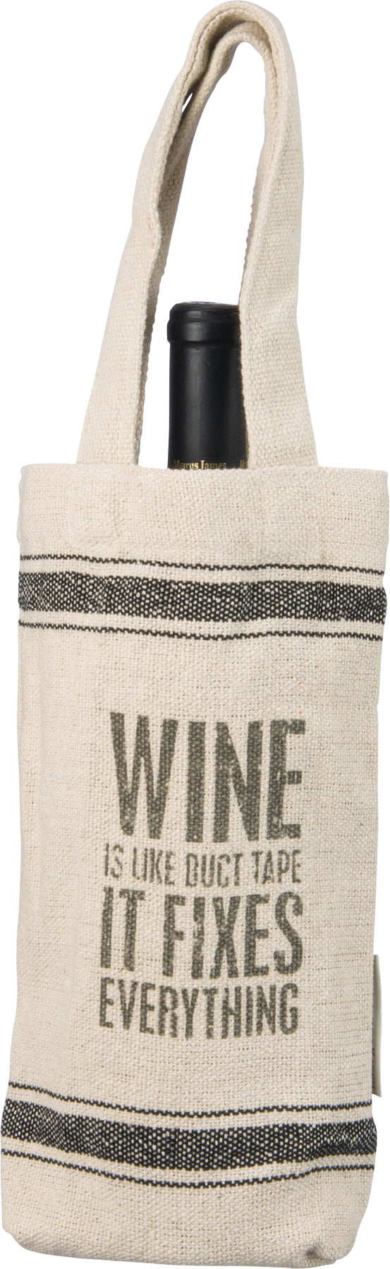 Wine Is Like Duct Tape Fixes Everything Wine Bag