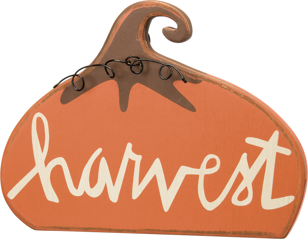 Harvest Stand Up Pumpkin