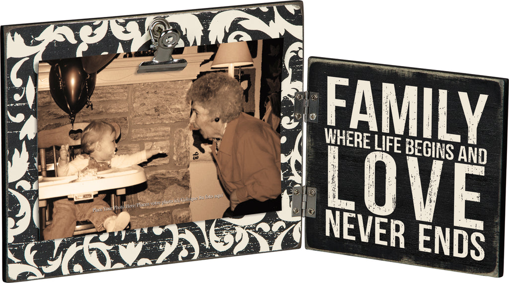 Family Hinged Photo Frame