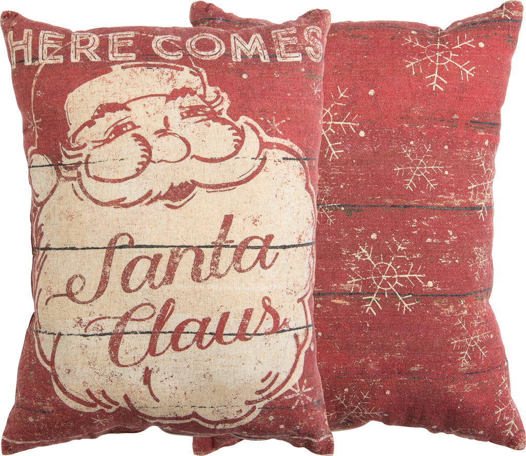Here Comes Santa Pillow Insert Included