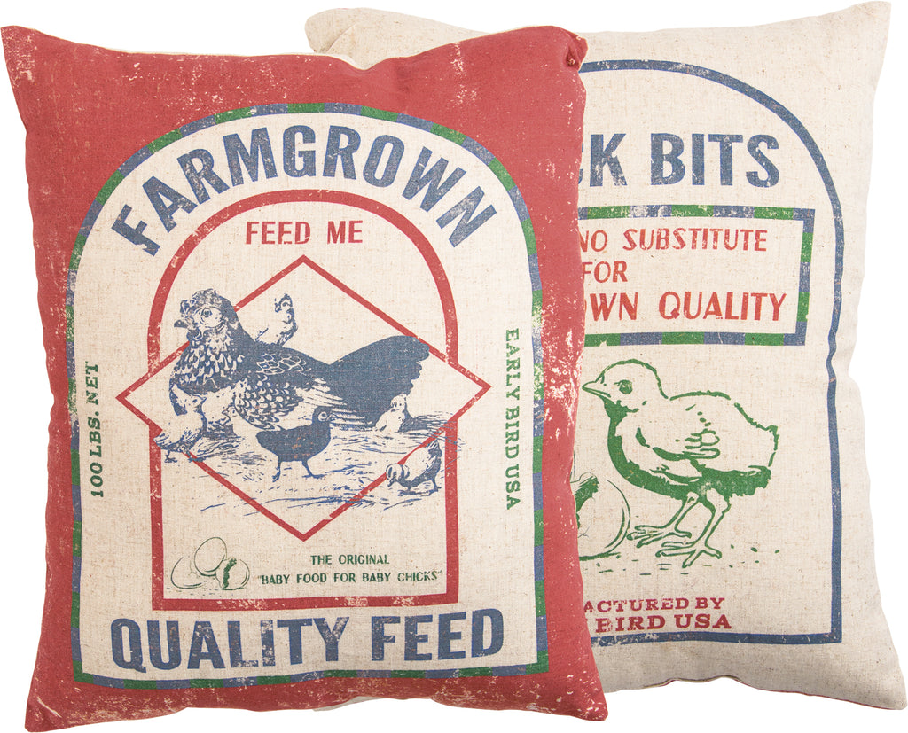 Farmgrown Chicken Feed Pillow Insert Included