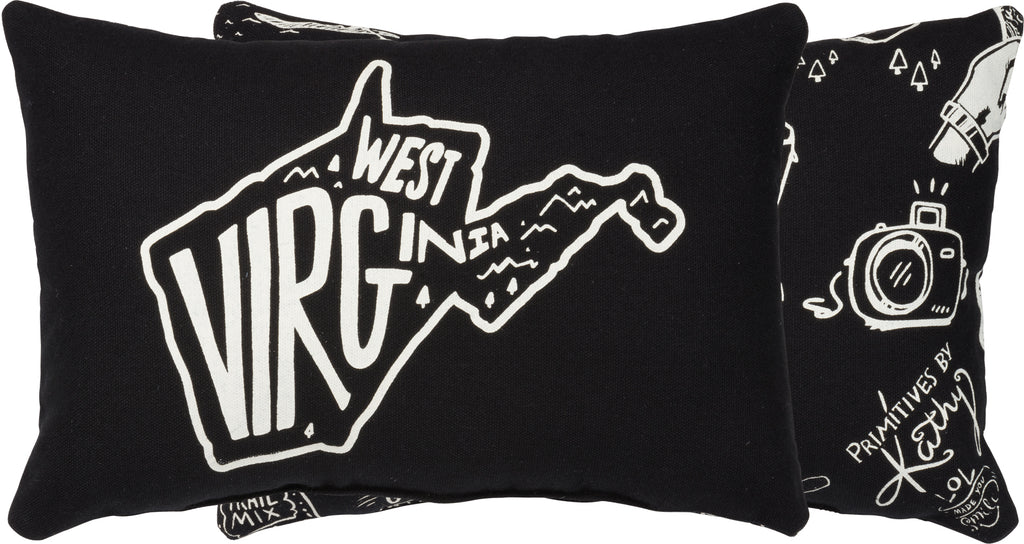 West Virginia Pillow with Insert
