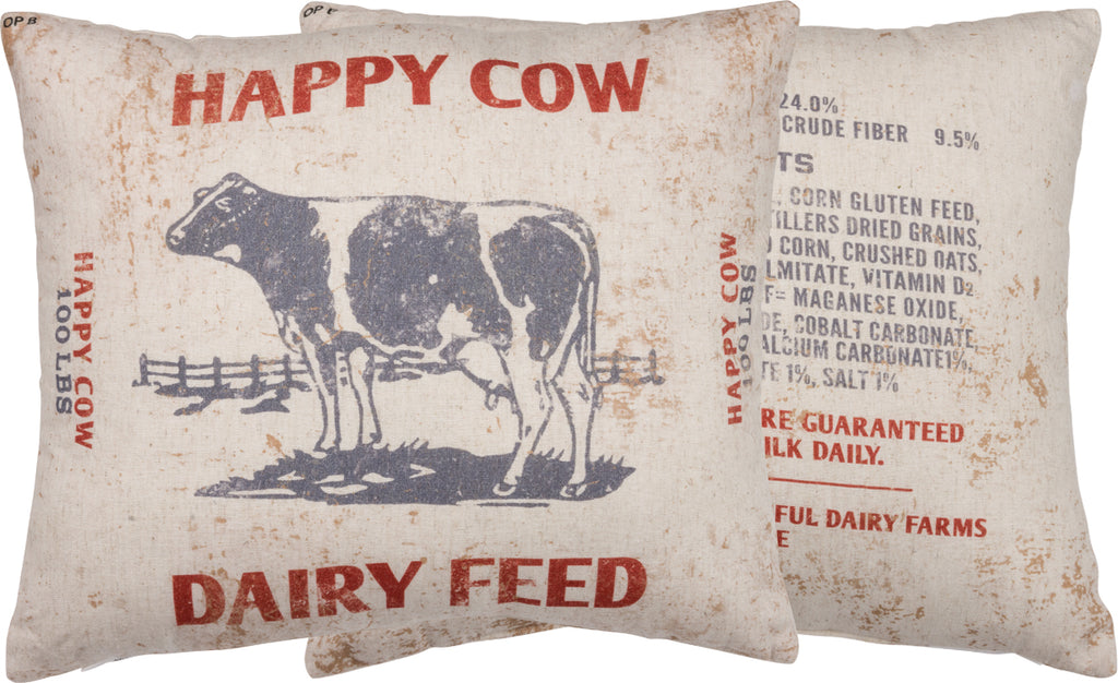 Happy Cow Pillow Insert Included