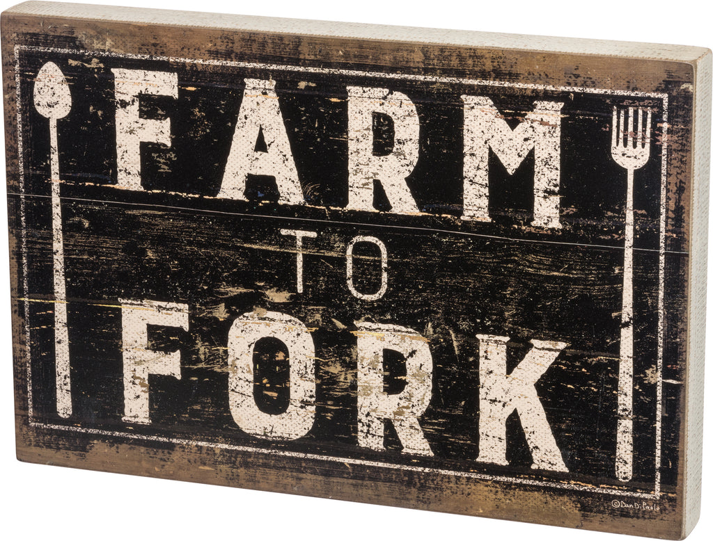 Farm To Fork Large Sign