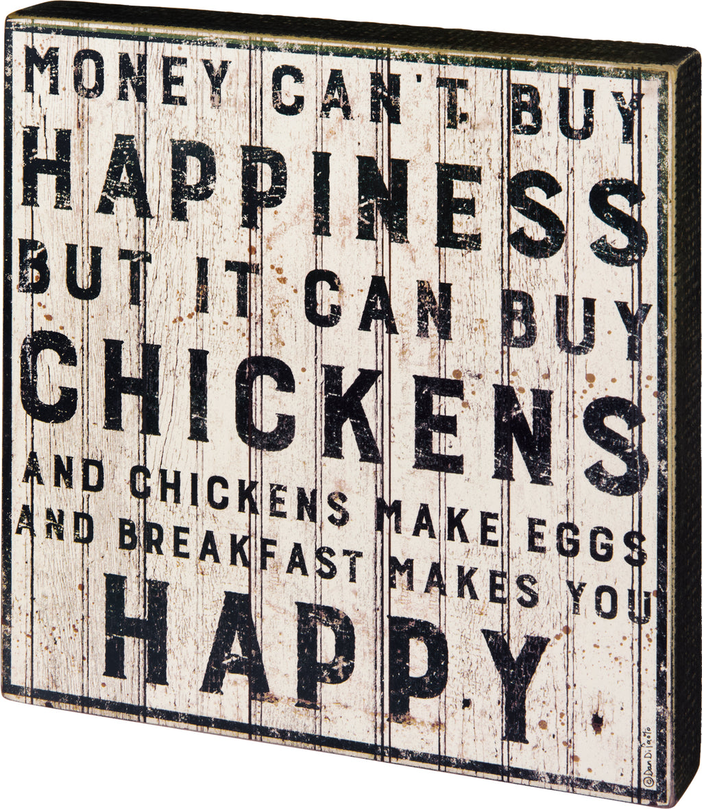 Chicken Make You Happy Wall Art