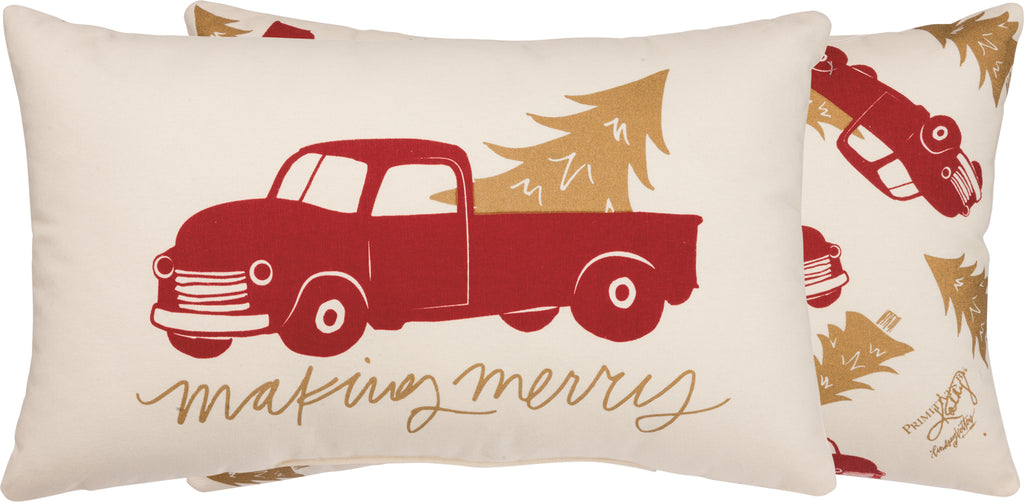 Making Merry Truck Pillow Insert Icluded