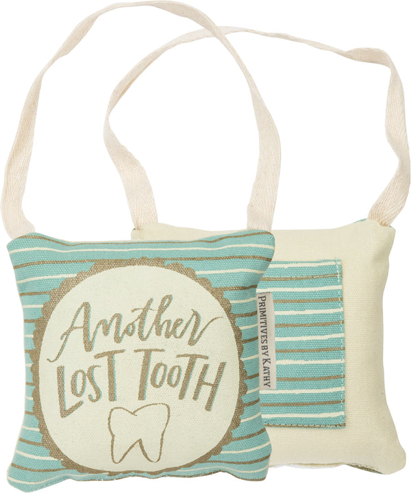 Lost Tooth Pillow Blue