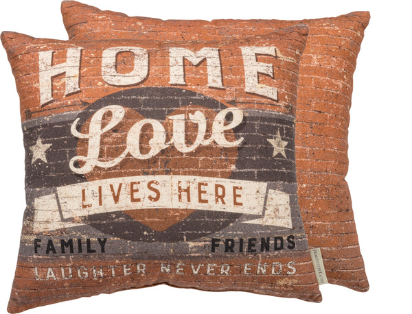 Love Lives Here Pillows 16x16 Insert Included