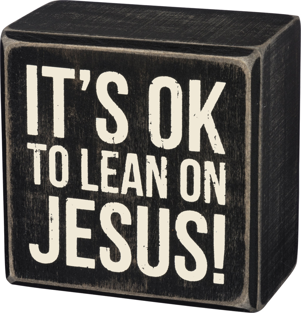 Lean On Jesus Box