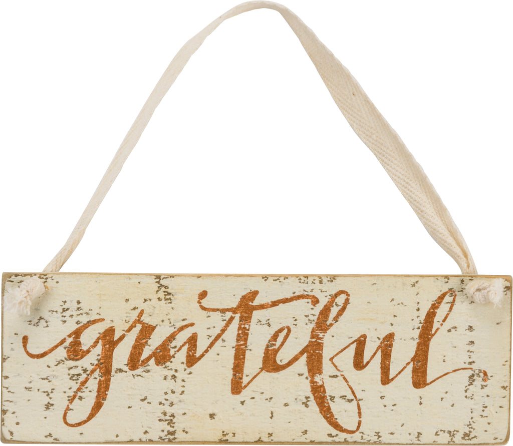 Grateful Slat Sign