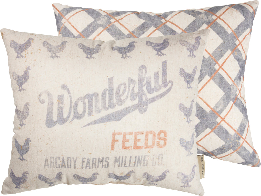 Wonderful Feed Pillow Insert Included