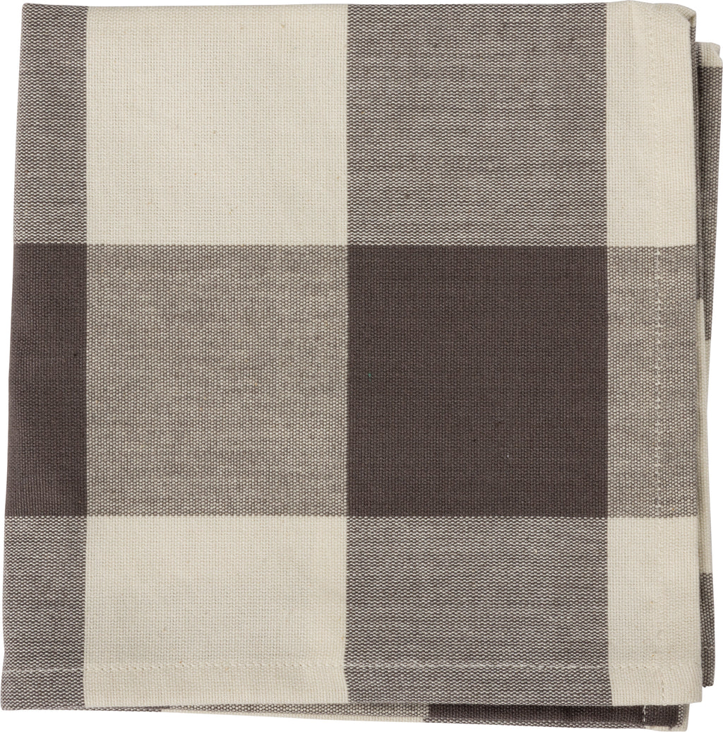 Gray Buffalo Check Napkins