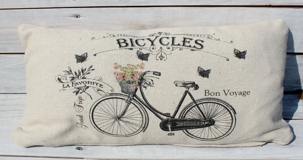 Bicycle with Flower Pillow