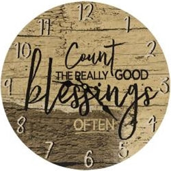 Count Your Blessings Clock